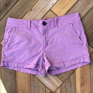 Ae light purple stretch chino short